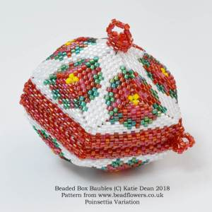 Beaded box baubles, Katie Dean, Beadflowers