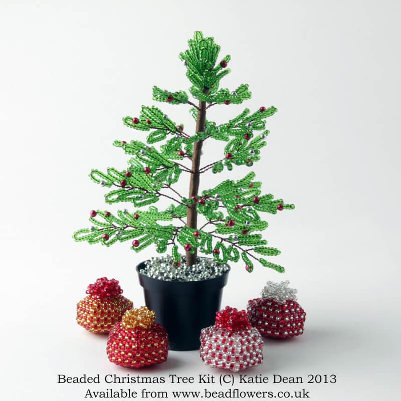 Beaded Christmas Tree Kit, Katie Dean, Beadflowers