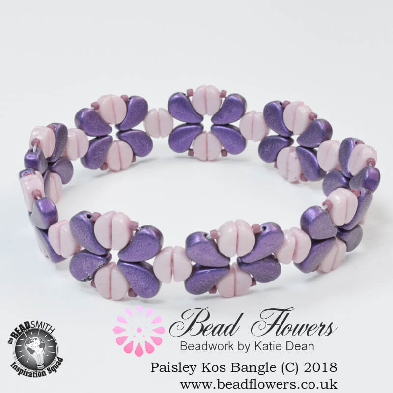 Kos Beads Bangle Pattern, Katie Dean, Beadflowers