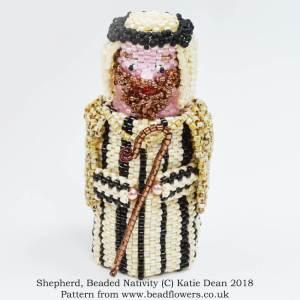 Beaded Nativity set, Katie Dean, Beadflowers