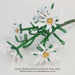 French beaded edelweiss pattern, Katie Dean, Beadflowers