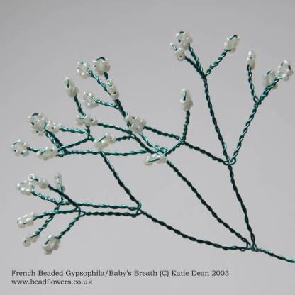 French Beaded Baby's Breath Tutorial - also known as Gypsophila - by Katie Dean, Beadflowers