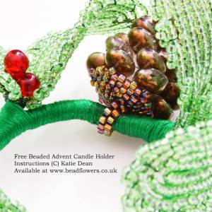 How to make a beaded advent candle holder, Katie Dean Beadflowers