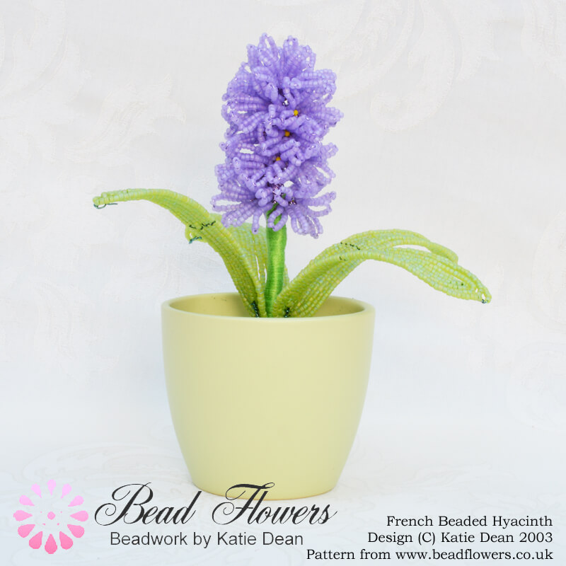 French beaded Hyacinth pattern, Katie Dean, Beadflowers
