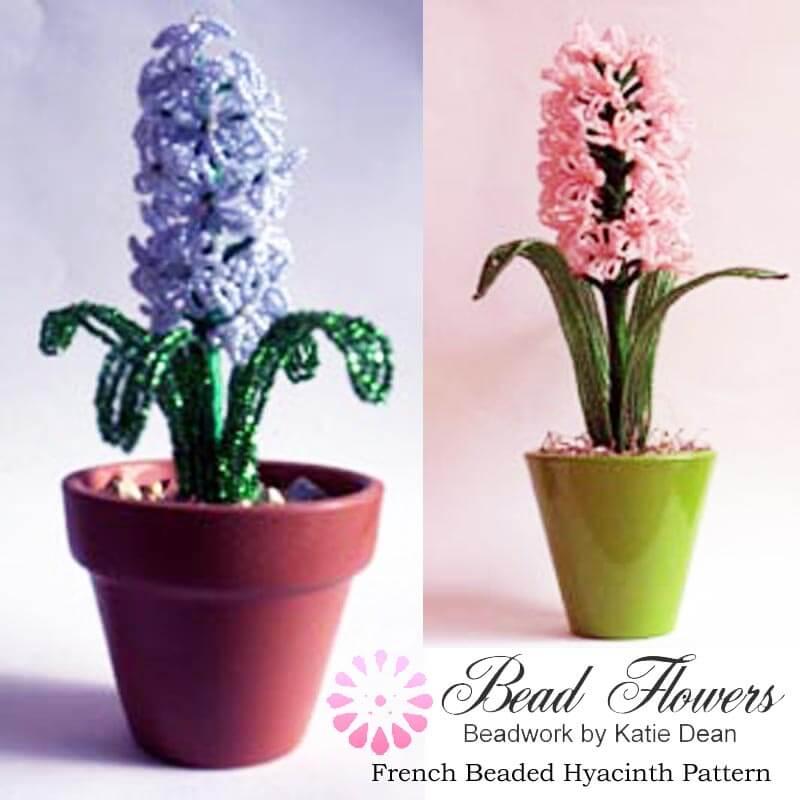 French beaded Hyacinth pattern, Katie Dean, Beadflowers