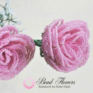 French Beaded Rose Pattern, Katie Dean, Beadflowers
