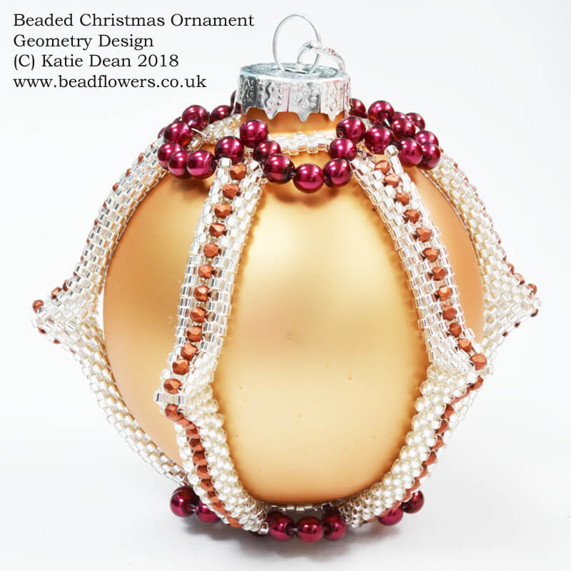 Beaded Christmas Ornaments Patterns.Beaded Christmas Ornament Pattern Geometry Design Beadflowers