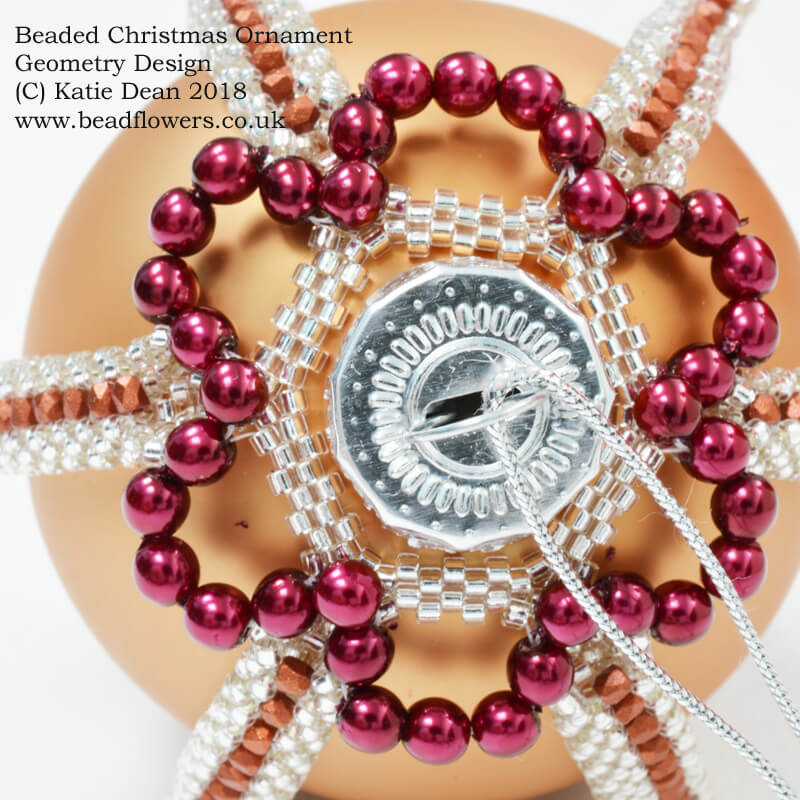 Beaded Christmas Ornament, Geometry Design, Katie Dean, Beadflowers