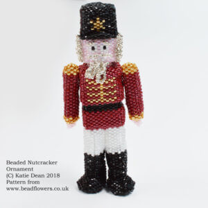 Beaded Nutcracker Ornament Pattern, Katie Dean, Beadflowers