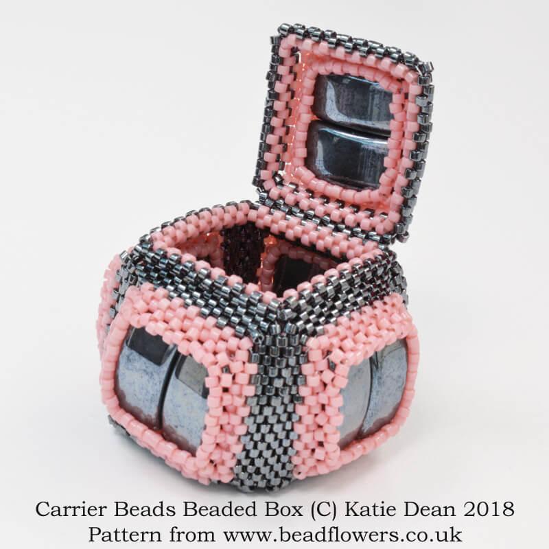 Carrier Beads Beaded Box Pattern, Katie Dean, Beadflowers