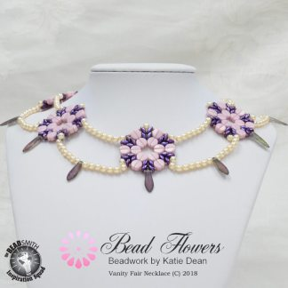 Vanity Fair Necklace Pattern, Katie Dean, Beadflowers