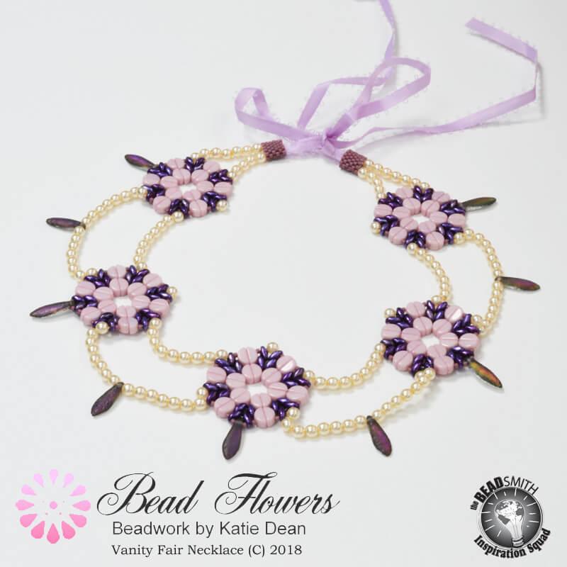 Vanity Fair Necklace Pattern, Katie Dean, Beadflowers