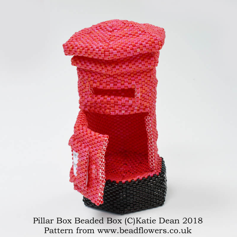 Pillar Box Beaded Box Pattern, Katie Dean, Beadflowers