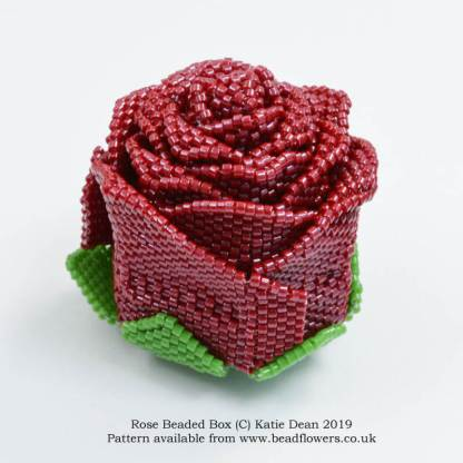 Rose beaded box pattern, Katie Dean, Beadflowers