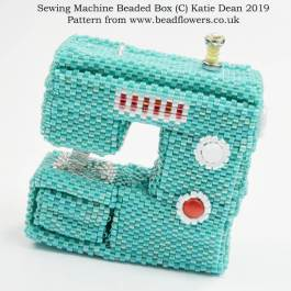 Sewing Machine Beaded Box Pattern, Katie Dean, Beadflowers
