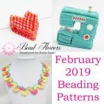 February 2019 beading patterns, Katie Dean, Beadflowers