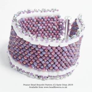 Peanut bead bracelet pattern, Katie Dean, Beadflowers