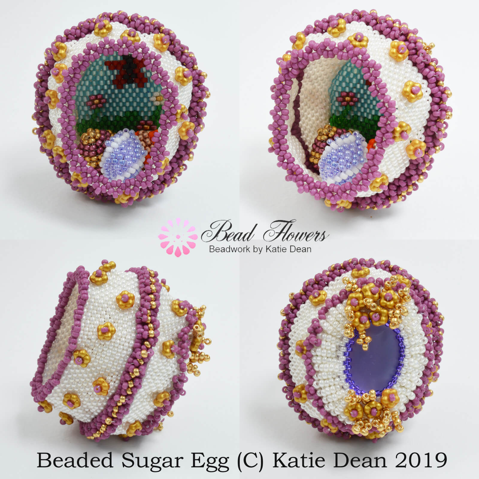 c9bb129e0c5 Sugar Easter Egg Bead Pattern ~ by Katie Dean, Beadflowers