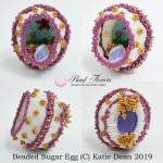 Sugar Easter egg bead pattern, Katie Dean, Beadflowers