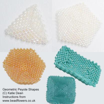 Peyote shapes tutorial, Katie Dean, Beadflowers, April 2019 beading patterns