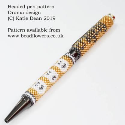 Drama beaded pen pattern, Katie Dean, Beadflowers