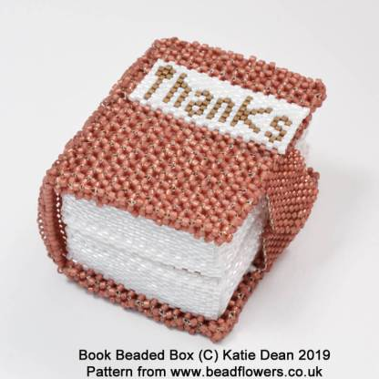 Book beaded box pattern, Katie Dean, Beadflowers