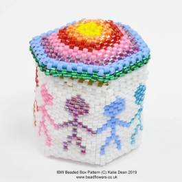 International Beading Week Beaded Box Pattern, Katie Dean, Beadflowers