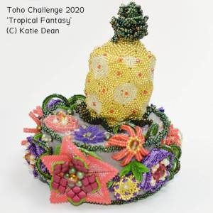 Toho CHallenge 2020, Tropical Fantasy by Katie Dean, Beadflowers