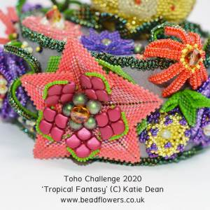 Detail of Tropical Fantasy by Katie Dean