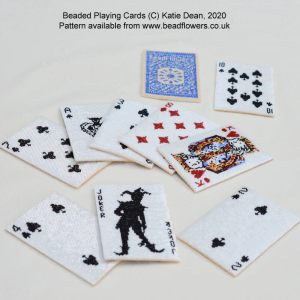 Beaded playing cards pattern, Katie Dean, Beadflowers