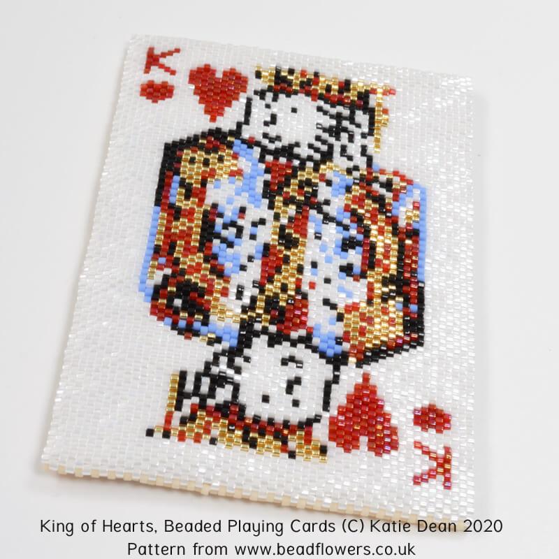 Beaded Playing Cards Pattern, Katie Dean, Beadflowers