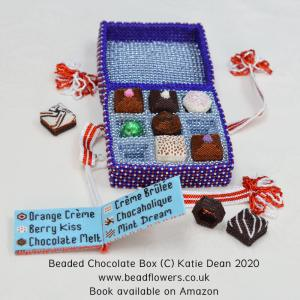 Sweet Dreams, Beaded Chocolate Box, Katie Dean, Beadflowers