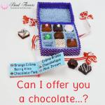 Sweet dreams, beaded chocolate box. Can I offer you a calorie-free chocolate?! Katie Dean, Beadflowers