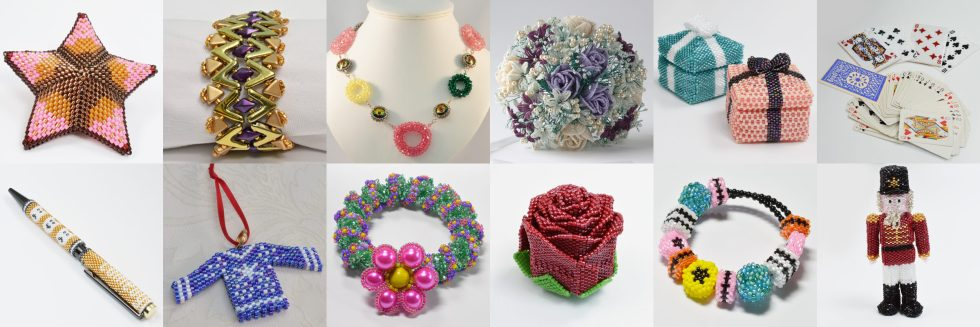 Bead Flowers, Beading Patterns by Katie Dean