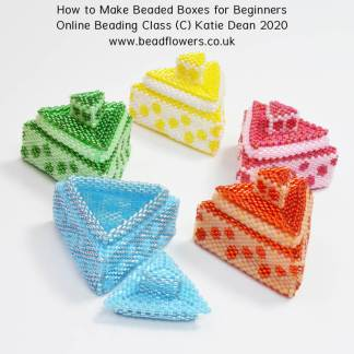 How to make a beaded box. Online class for beginners, Katie Dean, Beadflowers