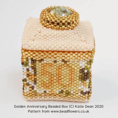 Golden anniversary beaded box pattern, Katie Dean, Beadflowers