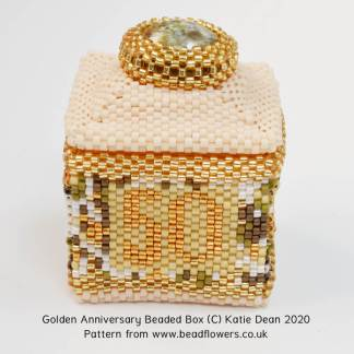 Golden anniversary beaded box pattern, Katie Dean, Beadflowers