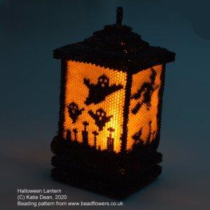 Halloween Lantern Beading Pattern by Katie Dean, Beadflowers