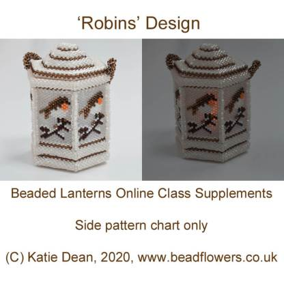 Beaded lanterns additional charts: robin, by Katie Dean
