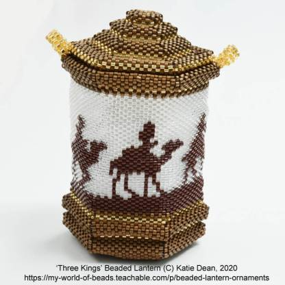 Beaded Lantern Ornaments, Online Beading Class with Katie Dean