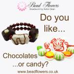 Do you like chocolates or candy? If you said yes, then join Katie Dean at Beadflowers website