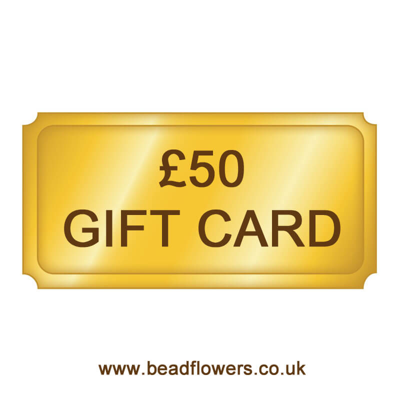 Beadflowers Golden Gift Card
