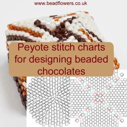 Peyote stitch charts for beaded chocolates, Katie Dean, Beadflowers