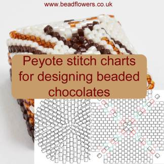 Peyote stitch charts for beaded chocolates, Katie Dean, Beadflowers