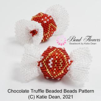 Chocolate truffle beaded beads pattern, Katie Dean, Beadflowers