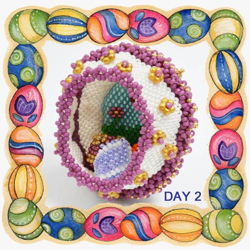 Day 2 Easter egg, sugar egg, Katie Dean, Beadflowers