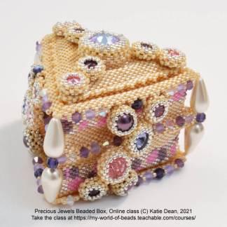 Precious jewels beaded box by Katie Dean