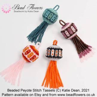 Beaded Tassels Peyote Stitch Pattern by Katie Dean, Beadflowers