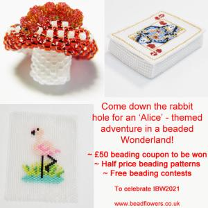 Come down the Rabbit hole to celebrate International Beading Week 2021