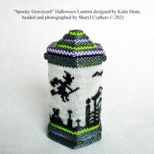 Sharyl Cyphers Spooky Graveyard lantern, designed by Katie Dean